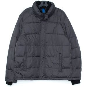 Andrew Marc Jacket Puffer Full Zip Button Large H1
